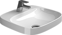 BE YOU 50 Recessed washbasin with tap hole - Sanitana